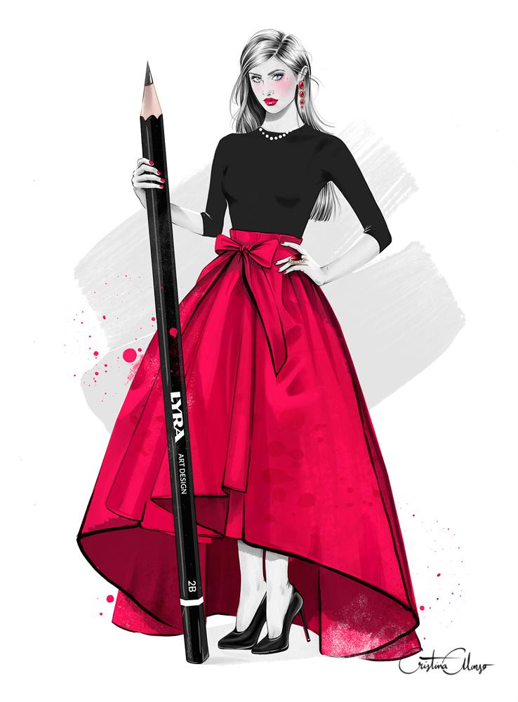 Fashion Illustration Book Cover ~ Cristina alonso