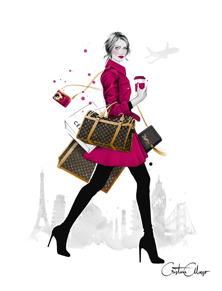 Cristina Alonso E Suas Ilustrações De Moda E Beleza
